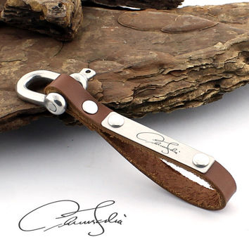 Personalized Signature Keychain, Custom Handwriting, Actual Handwriting, Signature Gifts, Personalized Gifts, Leather Keychain, Gift for Men