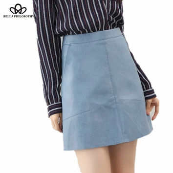 High waist PU leather Skirt - 9 colors