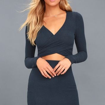 Arabesque Navy Blue Two-Piece Dress