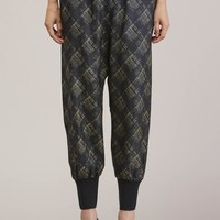 Patchouli Silk Track Pants, Plaid