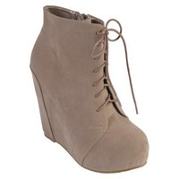Journee Collection Womens Lace-up Platform Wedge Booties