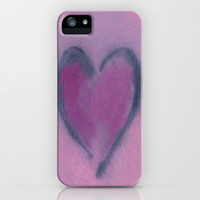iPhone 5 Love Case - Watercolor Heart -  Designer Cell Phone Cover - Brazen Art - iPhone 4 iPhone 3 Case