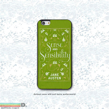Sense & Sensibility, Classic Jane Austen Book Custom Phone Case for iPhone 4/4s, 5/5s, 6/6s, 6/6s+, iPod Touch 5