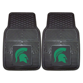 Michigan State Spartans NCAA Heavy Duty 2-Piece Vinyl Car Mats (18x27)