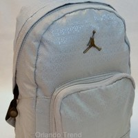 Nike Air Jordan Backpack Toddler Preschool Boy Gray Small Mini 23 Bag School