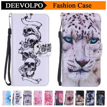DEEVOLPO Skull Cover Case For Samsung Galaxy J120 J3 Emerge J5 J7 A3 A5 2016 2017 S3 S4 S5 S6 S7 Edge S8 Plus G360 G530 DP128