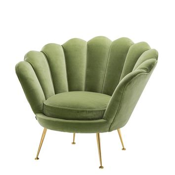 Green Shell Shaped Chair | Eichholtz Trapezium