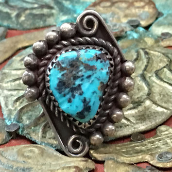 Turquoise Ring Navajo Sterling Silver