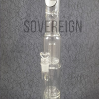 Stemless straight tube w/ ZOBELLO and showerhead percolators by ZOB Glass
