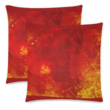"""Lava Throw Pillow Covers 18""""x 18"""" (Set of 2)"""