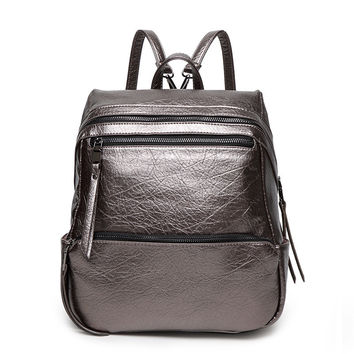 Stylish Soft Backpack [6581507015]