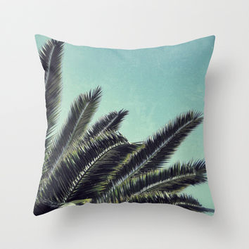 Palms Throw Pillow by RichCaspian | Society6