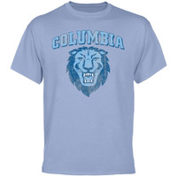 Columbia University Lions Distressed Primary T-Shirt - Blue