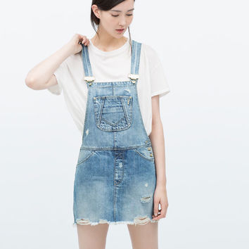 Dungarees with skirt