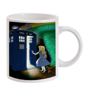 Gift Mugs | Alice In Wonderland Doctor Who Ceramic Coffee Mugs