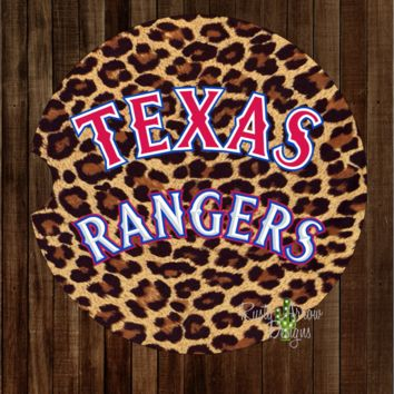 Texas Rangers  with Cheetah background.