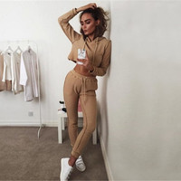 2016 winter Women Two Piece Outfits Pants Set Rompers Jumpsuit #7 Long Pants 2 Piece Set army Crop Tops + pants casual rompers