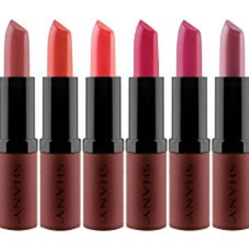 SHANY Cosmetics Lipstick Set of 12 Long-lasting and Moisturizing Creamy Colors with Various Finishes - Cool Kisses