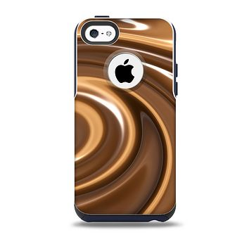 Chocolate and Carmel Swirl Skin for the iPhone 5c OtterBox Commuter Case