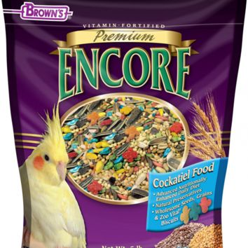 Brown's Encore Premium Cockatiel Food