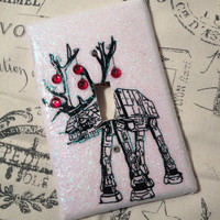 On SALE!  Star Wars ATAT Christmas Reindeer light  switch plate