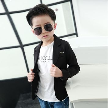 Trendy Boys Clothes Spring Children Clothing Baby Boy Monochromatic Color Blazer Jacket AT_94_13