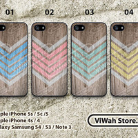 Aztec iPhone 4 Case - Geometric Arrow Teal iPhone 4 4g 4s Hard & Rubber Case, Wood Pattern cover skin case for iphone 4/4g/4s case