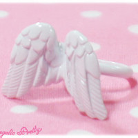 Etoile Feather Ring - White [132KA2-13490-wh] - $32.00 : Angelic Pretty USA