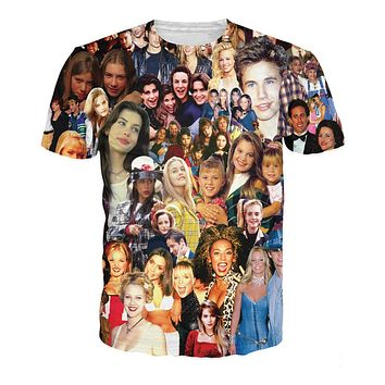90's Stars Collage T-Shirt