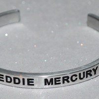 I Love Freddie Mercury  |  Engraved Handmade Bracelet By Say It and Wear It Jewelry