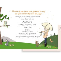 Personalized Baby Shower -Woodlands
