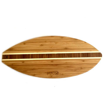 Mato Eco-friendly Bamboo Countertop Cutting Board in Surfboard Shape - Natural, Dishwasher Safe