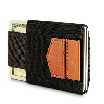 ESBONFI Super Slim Elastic Card Holder Credit Card Case Minimalist Wallet Leather Coins Purse for Men Women Pocket Men Wallets