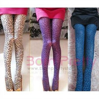 Sexy Punk Leopard Stocking Leggings Tights Opaque Pantyhose Rock-2 colors selectable