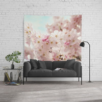 cherry blossoms Wall Tapestry by sylviacookphotography