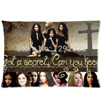 Comfortable Flannel Pretty Little Liars Custom Zippered Pillow case 20x30 (one side) PC-1117