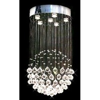 "Modern Contemporary Chandelier ""Rain Drop"" Chandeliers Lighting with Crystal Balls! H32"" X W18"""