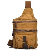 CANVAS Bag/Leather Briefcase / leather Messenger bag /leather Laptop bag / Men's leather Bag/satchel/backpack