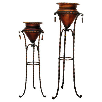 Tall Plant Stand, Pair
