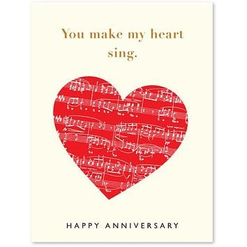 Heart Song Anniversary Card
