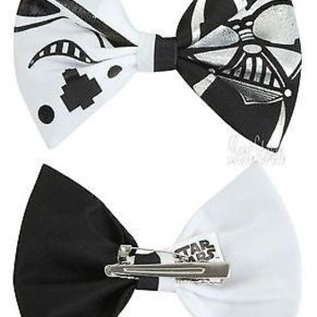 Licensed cool Star Wars DARTH VADER STORMTROOPER DARK SIDE Hair Bow Ribbon Clip Cosplay Pin
