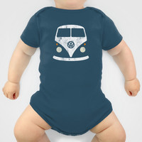 Volkswagen Split Bus - Vintage Baby Clothes by Nick Steen