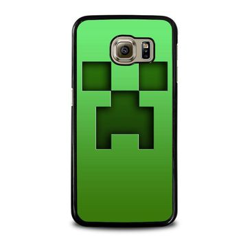creeper minecraft samsung galaxy s6 case cover  number 1