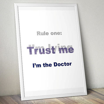 Trust me - I'm lying, Doctor Who - Printable Poster - Digital Art - Download and Print