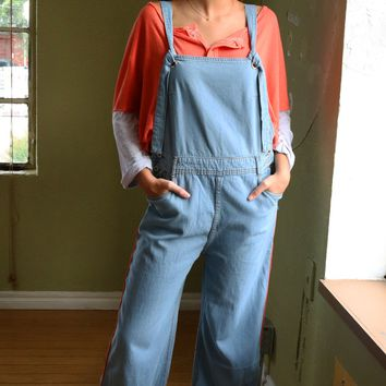 Boyfriend Fit Overalls - Denim by POL Clothing