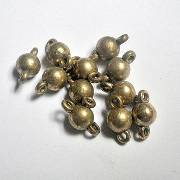 20 pieces 2mm x 6mm antique gold brass round acrylic bead spacer link connector - C17