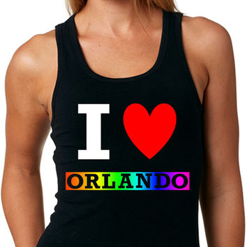 I Love Orlando TANK TOP Same-Sex Marriage Gay Pride Lesbian Pride Rainbow Pride Equality Tank Top