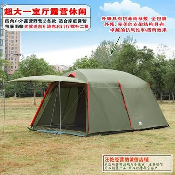 Luxury 1 Bedroom 1 Living Room 5 6 8 Person Party Family Outdoor Camping Tent
