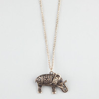 Full Tilt Filigree Elephant Necklace Gold One Size For Women 22772562101