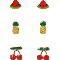 Fruit Earrings 3 Pair